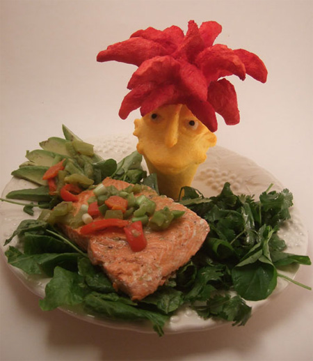 Sideshow Bob Food Carving