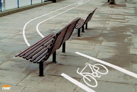 BMX Rider Magazine Bench Advertisement