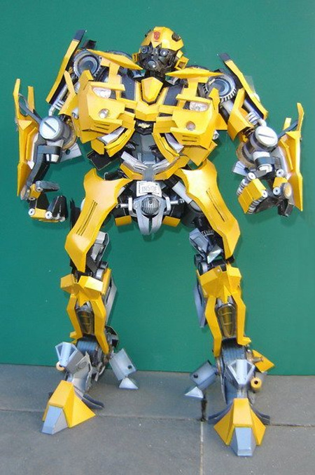 Transformers Bumblebee Paper Model