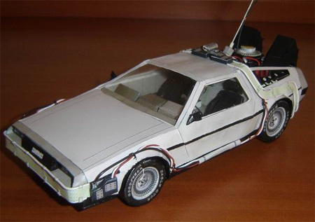BTTF Delorean Paper Model