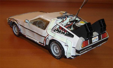 Back to the Future Delorean Paper Model