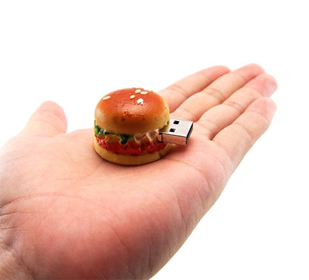Realistic Hamburger 8GB USB Flash Drive