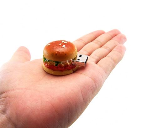 Realistic Hamburger 8GB USB Flash Drive