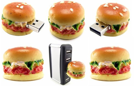 Realistic Hamburger 8GB USB Flash Drive 2