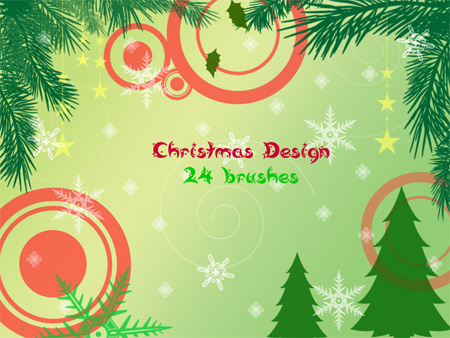 24 Christmas Photoshop Brushes