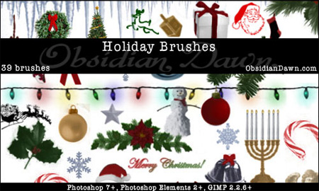 Holiday Photoshop Brushes