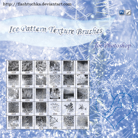 Ice Patterns Texture Brushes