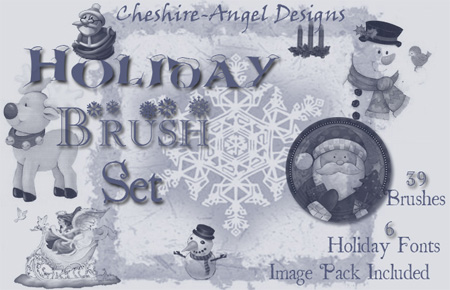 Holiday Photoshop Brush Set