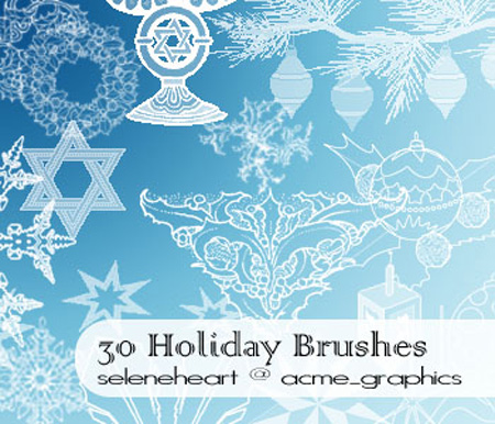 30 Holiday Brushes