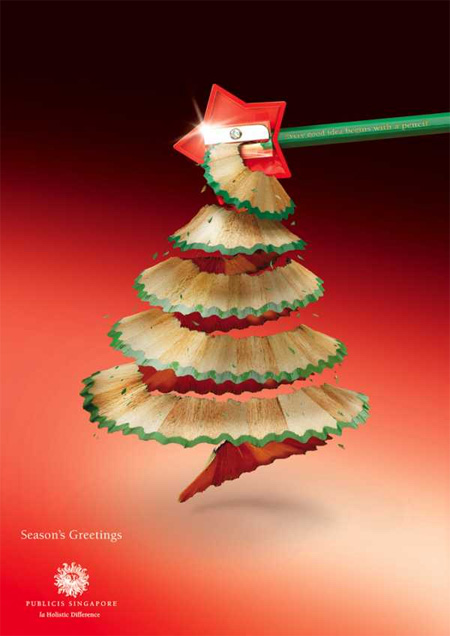 Pencil Christmas Trees