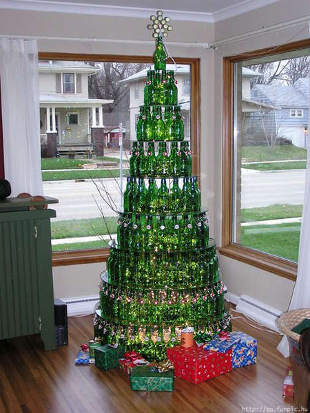 Empty Bottles Christmas Trees