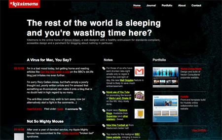 Beautiful Dark CSS Website Designs 01