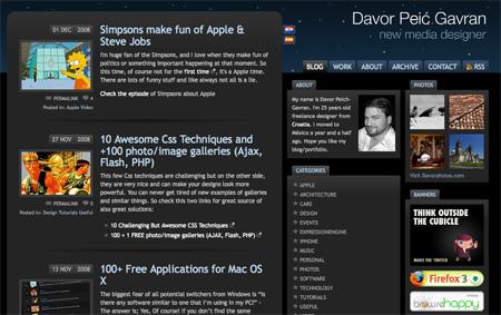 Beautiful Dark CSS Website Designs 13