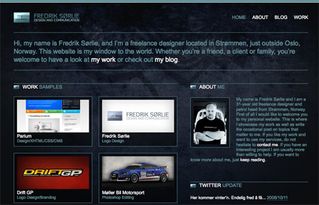 Beautiful Dark CSS Website Designs 26