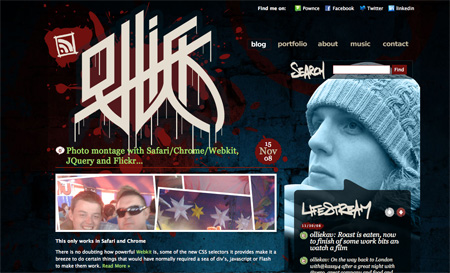 Beautiful Dark CSS Website Designs 28