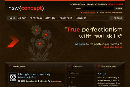 Beautiful Dark CSS Website Designs 36