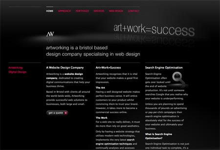 Beautiful Dark CSS Website Designs 38