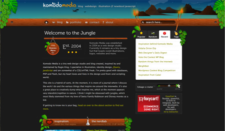 Beautiful Dark CSS Website Designs 40