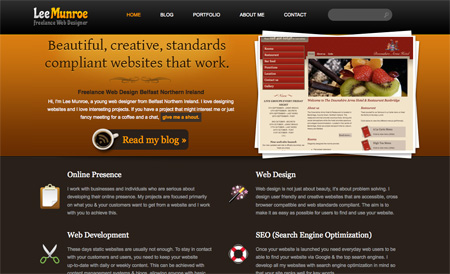 Beautiful Dark CSS Website Designs 08
