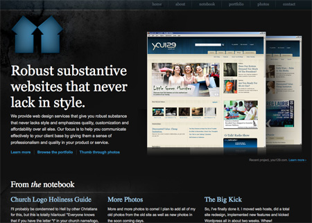 Beautiful Dark CSS Website Designs 09