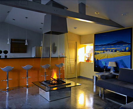 Glass Fireplace 2