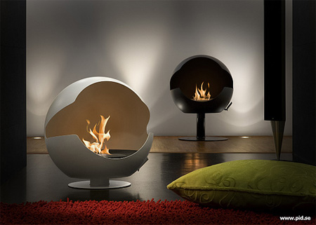 Vauni Globe Fireplace