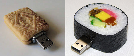 Realistic Food Shaped USB Flash Drives