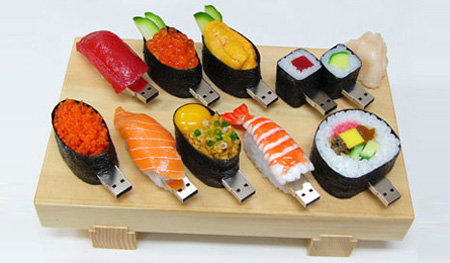 Realistic Sushi Flash Drives