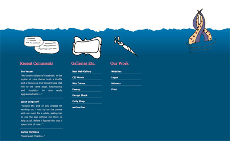 Beautiful and Creative Website Footers 09