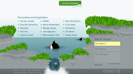 Beautiful and Creative Website Footers 07