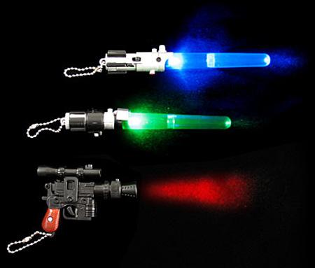 Star Wars Micro Lightsabers Keychain