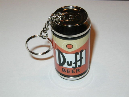 Duff Beer Can Keychain