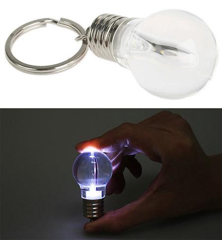 Light Bulb Flashlight Keychain