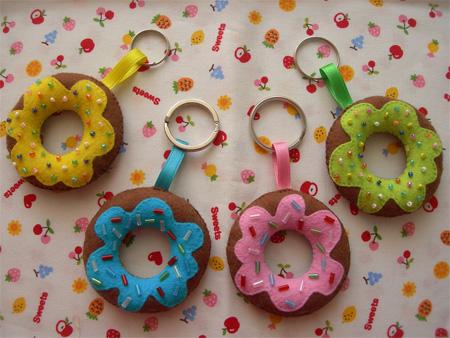 Donut Keychains