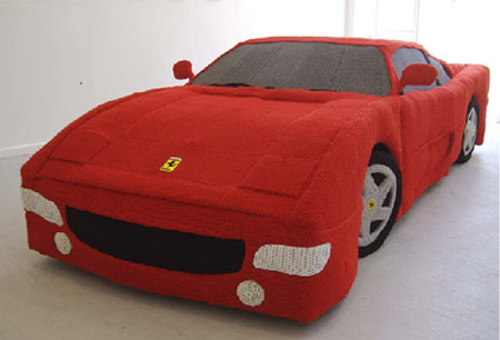 Knitted Ferrari 2
