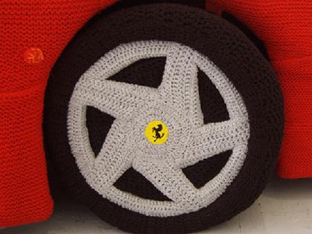 Knitted Ferrari 3