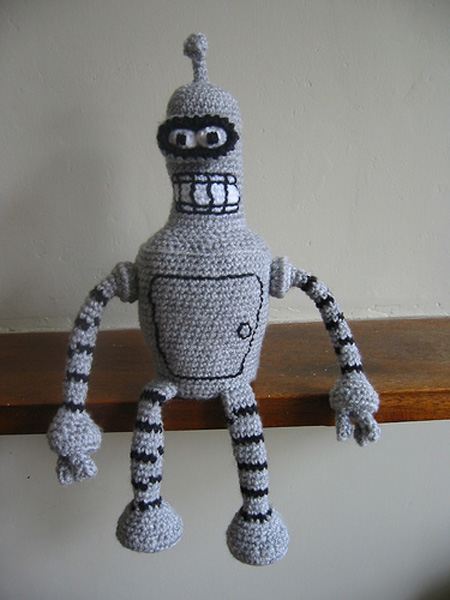Knitted Bender from Futurama