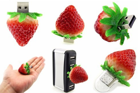 Realistic Strawberry 8GB USB Flash Drive 2