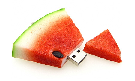 Realistic Watermelon 8GB USB Flash Drive