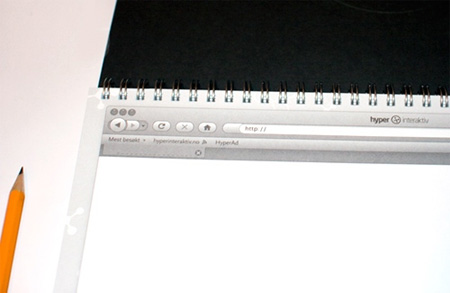 Web Design Sketchbook from Hyper Interaktiv
