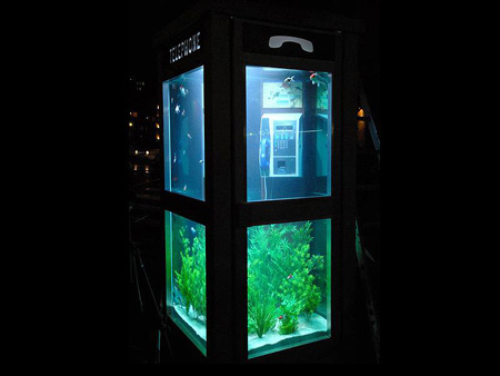Aquarium Telephone Booth in France 5