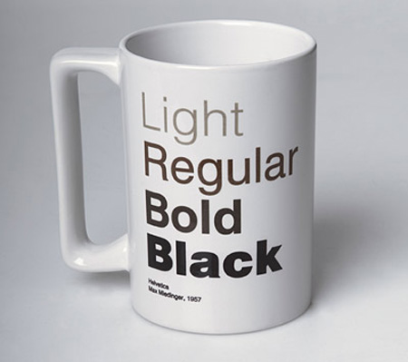helvetica coffee mug cup design ideas