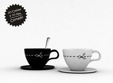 2/3 Coffee + 1/3 Milk Cup