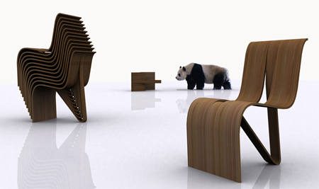 Stackable Kulms Chair by MisoSoup Design