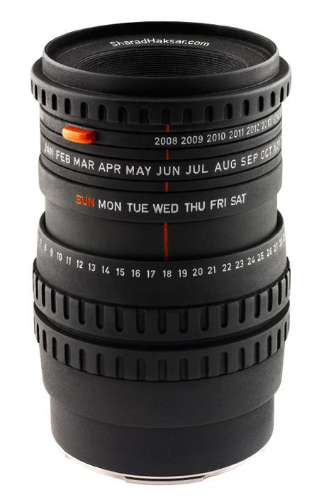 Worlds First Camera Lens Calendar