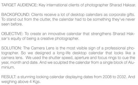 The World\'s First Camera Lens Calendar 3