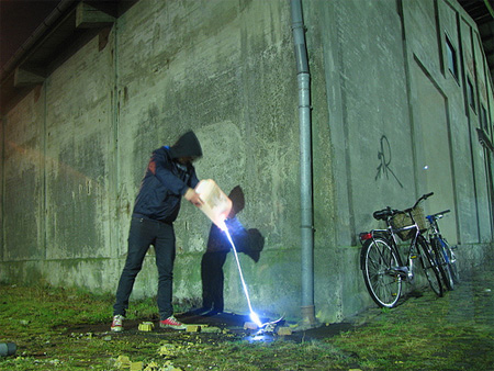 Waste Removal by The Path of Light