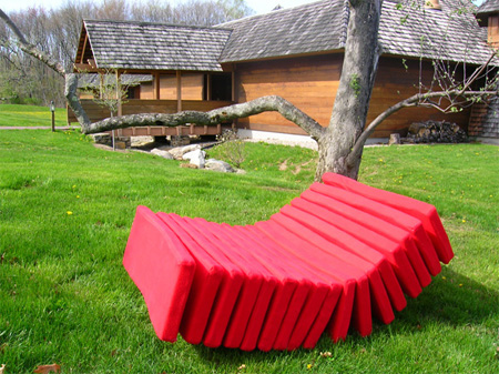 Segmented Lounge Chair