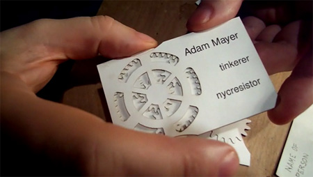 Adam Mayer Geared Business Cards