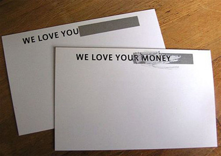 We Love Your Money Business Card